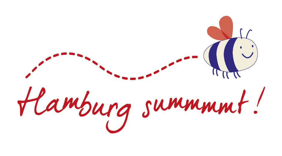 "Banner ""Hamburg summt!"""